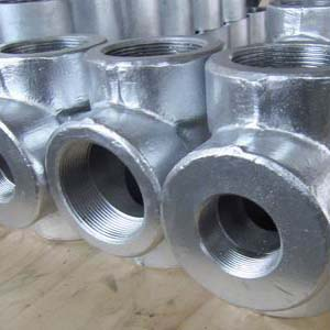 Threaded Forged Equal Tee, ANSI B16.11, ASTM A105