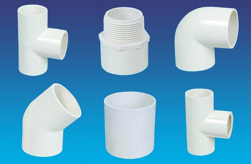 Adhesion processes of plastic pipe fittings landee